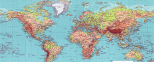 Take Steps on this World Map 1970