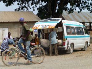 Cross Culture - Dala dala minibus Tanzania loading up