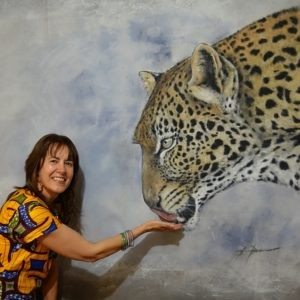 Carina Bekkers with Leopard by Bruce Doran