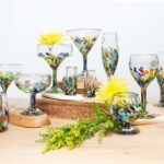 Globe In - colourful wine glasses