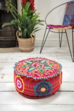 Ian Snow - embroidered pouffe