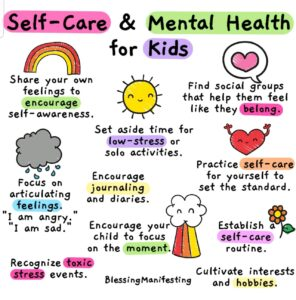 Working from Home - Coping Strategies - by BehaviorFlip - diagram for self-care and mental health